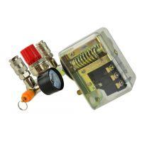 Комплект пресостат за компресор с бързи връзки и манометри Geko G80324 400 V