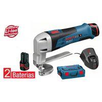 Акумулаторна ножица за ламарина Bosch GSC 12V-13  /куфар L-Boxx, 2 батерии/
