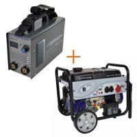 Бензинов трифазен генератор с електростартер REM Power GSEm 7250 TBE + ММА инверторен електрожен REM Power WMEm 150