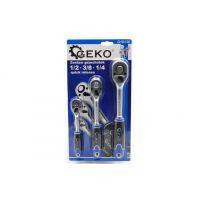Комплект тресчотки GEKO G10136 1/2'', 3/8'', 1/4''