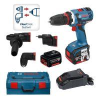 Акумулаторен винтоверт Bosch GSR 14,4 V-LI HX Set  /куфар L-Boxx, 2 батерии 4,0 Ah/