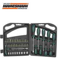 Комплект отвертки, накрайници и вложки Mannesmann 11247, 47 части в куфар