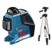 Линеен лазер Bosch GLL 3-80 P /със статив BS 150, възможност до 80 метра/