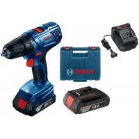 Акумулаторен винтоверт Bosch GSR 180-LI Professional, 18 V, 54 Nm, 35х10 мм, с 2 батерии GBA 18V 2.0Ah, зарядно GAL 18V-20 и куфар