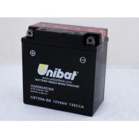 Мотоциклетен акумулатор UNIBAT 9 Ah, 130 А