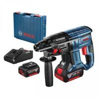 Акумулаторен безчетков перфоратор Bosch GBH 180 Professional, 18V, 2J + 2 батерии, зарядно и куфар