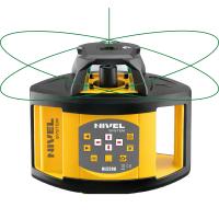 Ротационен лазерен нивелир Nivel System NL520G, ±1 мм / 10 м, 500 м, зелен лъч, в комплект с лазерна рейка (LS-24) и тринога (SJJ1)