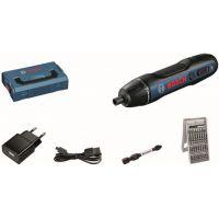 Комплект акумулаторен винтоверт с битове Bosch GO Professional, 3.6V, 2.5/5 Nm