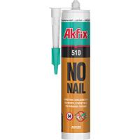 Полиуретаново лепило AKFIX NO NAIL 510, 310 мл, бежово
