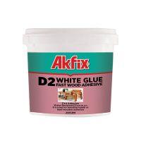 Лепило за дърво AKFIX PVA D2, 3 кг, бяло
