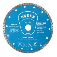 Диамантен диск за сухо рязане RODEX, Turbo, синтер сегмент, 115 мм