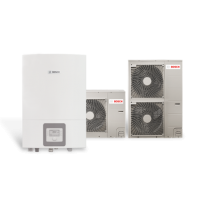 Термопомпа Bosch Compress 3000 AWS, 16 kW, 230 V, сплит система, хибрид