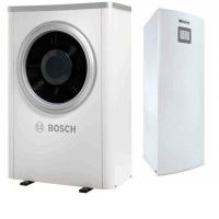 Термопомпа Bosch Compress 6000 AW-13, 13 kW, 400 V, моноблок, с вграден 190 л. бойлер, със соларна серпентина