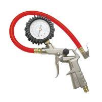 Пистолет за помпaне на гуми с манометър Premium, червен