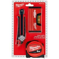 Комплект ролетка, нивелир и макетен нож Milwaukee, 5х19 мм, 152х18 мм, ± 0.5 мм / м