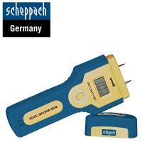 Влагомер за дървесина Scheppach WM 42, 5% - 42%, с включена батерия