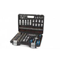 "Гедоре комплект HBM 9876, 1/2"", 1/4"", 108 части, с 2 тресчотки"
