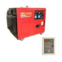 Шумоизолиран дизелов монофазен генератор SENCI SC-7500Q, 6 kW, 18 л, с ел. стартер, AVR и ATS табло, за аварийно захранване
