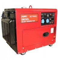 Шумоизолиран дизелов монофазен генератор SENCI SC-7500Q, 6 kW, 18 л, с ел. стартер, AVR и ATS