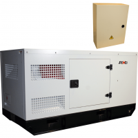 Шумоизолиран дизелов трифазен генератор SENCI SCDE 19YS, 15 kW, 80 л, ел. стартер, ATS и AVR