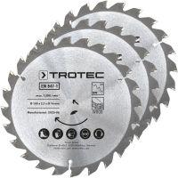Комплект дискове за циркуляр за дърво TROTEC,  24 зъба, Ø 150 мм, 3 броя