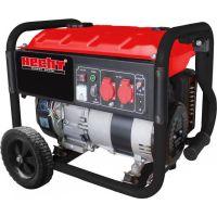 Бензинов монофазен генератор HECHT GG 3300W, 15 л, 3000 W, с колела и дръжка