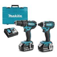 Комплект акумулаторни винтоверти Makita DLX2127X, 18 V, 3 Ah, с 2 батерии и зарядно