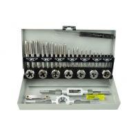 Комплект метчици и плашки GEKO G38301 M3-M12, за нарязване на резби, 32 бр