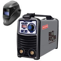 Инверторен електрожен REM Power WMEm 157 MMA DC, 230 V, 140 A, 1.6-3.2 мм + фотосоларен шлем