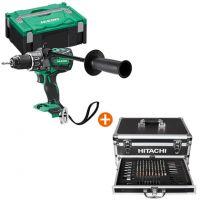 """Акумулаторен ударен винтоверт HiKOKI-Hitachi DV36DA-W2 + Комплект накрайник бит с магнитен държач HiKOKI-Hitachi, 1/4"""""""