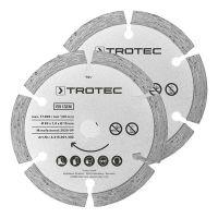 Комплект диамантени дискове за циркуляр TROTEC, Ø 89 мм, 2 броя