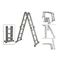 Мултифункционална алуминиева стълба S and K FAIRLINE, 4х4, 470 см, 150 кг