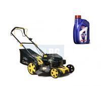Самоходна бензинова косачка за трева John Gardener G83056 JG, 3.62 к.с, 46 см, с ръчен старт, с мулчиране
