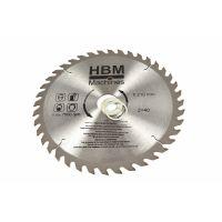 Циркулярен диск за дърво HBM 3597, 210x30 мм, 40 зъба