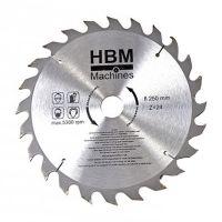 Циркулярен диск за дърво HBM 7140, HM, 250 мм, 24 зъба