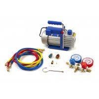 Едностъпална вакуум помпа за хладилни и климатични системи HBM 10172, 180 W, 60 л/мин