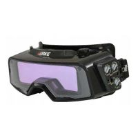 Самозатъмняващи заваръчни очила VERKE YZ1000 V75220, DIN 5-9 / DIN 9-13, 122.5х35 мм