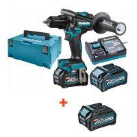 Професионален акумулаторен ударен винтоверт Makita HP001GM201, 40 V, 4 Ah, с 2 батерии и зарядно + батерия Makita BL4025, XGT, 40 V, 2.5 Ah