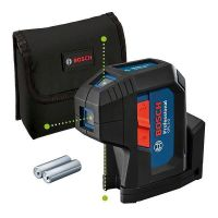 Зелен точков лазерен нивелир Bosch GPL5G Professional, 30м, с  2 батерии AA