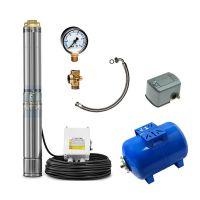 Хидрофорна система с потопяема помпа TROTEC TDP5500E, 1100 W, 6000 л/ч,58 м + хидрофорен съд + пресостат, манометър, петорник и мека връзка