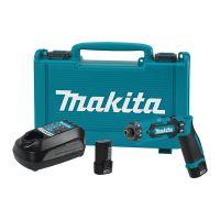 Акумулаторна отвертка Makita DF012DSE, 7.2 V, 1.5 Ah, 5.6 Nm, с 2 батерии и зарядно