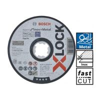 Диск за рязане Bosch X-LOCK Expert for Inox and Metal, 125x1x22.23 мм, 25 броя