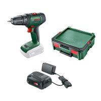 Акумулаторен винтоверт Bosch UniversalDrill18V, 18 V, 40.0 Nm + Батерия 2.5 Ah, зарядно AL 1810 CV и SystemBox