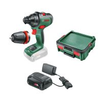 Акумулаторен винтоверт Bosch AdvancedDrill18, 18.0 V, 42.0 Nm + батерия 2.5 Ah, зарядно AL 1810 CV и SystemBox
