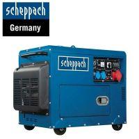 Трифазен дизелов генератор за ток Scheppach SG5200D, 5000 W, 16л, ел. старт