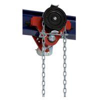 Релсов плъзгач с верижен подемник Brano Z420-A, 1.6 т, 3 м, 113 мм
