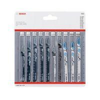 Комплект ножове за зеге Bosch, 10 броя