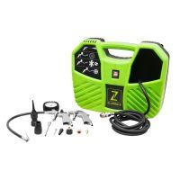 Монофазен безмаслен мини компресор за въздух ZIPPER ZI-COM2-8, 1100 W, 180 л./мин, 8 бара, с аксесоари