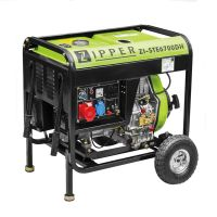 Трифазен дизелов генератор за ток ZIPPER ZI-STE6700DH, 6500 W, 12.5 л, ел.старт