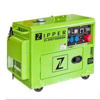 Трифазен дизелов генератор за ток ZIPPER ZI-STE7500DSH, 6500 W, 14.5 л, ел.старт